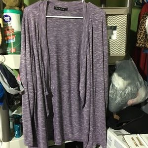 NWOT women's purple cardigan 1x